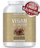EIWEIßPULVER VEGAN Cookies & Cream 1kg - 81,9% Eiweiß - Nutri-Plus Shape & Shake3k-Protein -...