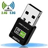 WLAN Adapter,WiFi Stick 600Mbps Mini Dual Band 2.4GHz / 5GHz Wireless USB Adapter Empfänger...