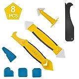 SMAtech Silikonentferner & silikon fugenwerkzeug,Multifunktionale 8 in 1 Profi Silikon Werkzeug...