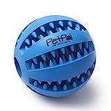 PetPäl Hundeball mit Zahnpflege-Funktion Noppen Hundespielzeug aus Naturkautschuk   RobusterHunde...