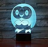 Stimmungslichter Cartoon Eule 3D Lampe Acryl LED Tier Vogel Nachtlicht Lampe Baby Schlafen...