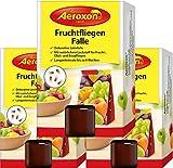 Aeroxon - Fruchtfliegenfalle - 3 Stück - Mittel um Fruchtfliegen zu bekämpfen - Geeignet für die...