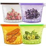 Lebensmittel Beutel Koch Beutel Küche Beutel Wiederverwendbare aus Silikon für Obst Gemüse Milch...