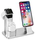3 in 1 Ladestation Kompatibel mit Apple Watch Series 4/3/2/1, Aluminum Ständer für Apple Watch...
