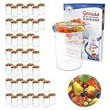 MamboCat 50er 435 ml Sturzglas-Set | Einmachgläser + Twist-Off-Deckel Obst gelbe Birne + GRATIS...