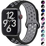 Hamile Kompatibel für Apple Watch Armband 42mm 44mm,Dual Farbe Weiches Silikon Atmungsaktiv...