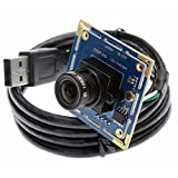 ELP Webcam 1,0 megapixel Hd Kostenloser Fahrer USB Kamera USB Kamera Modul Mjpeg 720p Kompatibel...