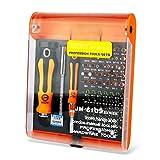 RAPLANC 72 in 1 Ratschen-Schraubendreher-Set, CRV Bits, Haushalt Reparatur-Werkzeug Extension Kit...