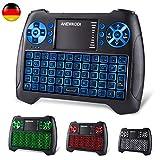 ANEWKODI Mini Tastatur mit touchpad, Smart TV Tastatur Fernbedienung, QWERTZ Tastatur Layout, Plug...