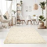Taracarpet Handweb-Teppich Oslo Wolle im Skandinavischem Landhaus Design Wohnzimmer Esszimmer...