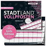 DENKRIESEN - Stadt Land VOLLPFOSTEN® - Girls Edition - Stadt Land FLUSS FÜR MÄDCHEN - Spiel FÜR...