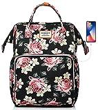 SUEBEKUE Rucksack Damen,Tagesrucksack Frauen Schultasche Damen mit USB Ladeanschluss und RFID Schutz...