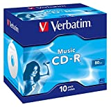 Verbatim Musik CD-R mit 80 Minuten, 16-fache Brenngeschwindigkeit, Rohling zum Daten sichern und...