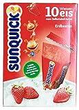 sunquick - Wassereis zum Selbsteinfrieren Erdbeere 10St - 650g