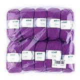 Gründl Lisa Premium Wolle, Polyacryl, Purpur, 32 x 27 x 6 cm