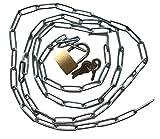 Stahlkette mit Vorhängeschloss Set – Robuste Kette mit Schloss + 3x Schlüssel – Länge...