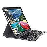 Logitech Slim Folio Pro kabelloses Bluetooth-Tastatur-Case (mit Hintergrundbeleuchtung, für iPad...