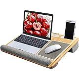 HUANUO Laptopunterlage mit Mausunterlage & Handgelenkauflage, für max. 17 Zoll Notebook, MacBook,...