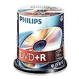 Philips DVD+R Rohlinge (4.7 GB Data/ 120 Minuten Video, 16x High Speed Aufnahme, 100er Spindel)