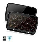 SZILBZ Mini Tastatur Wireless mit Touchpad, Smart TV Tastatur Fernbedienung, 2.4 GHz Kabellose...