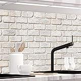 StickerProfis Küchenrückwand selbstklebend - GEKALKTE Wand - 1.5mm, Versteift, alle Untergründe,...