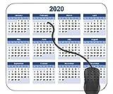 Mauspad 2020 Kalender 4 Basis Mouse pad, Gaming mauspad für Laptop, Computer