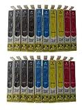 ESMOnline 20 komp. Druckerpatronen zu Epson WorkForce WF 7525 7515 7015 3540DTWF 3530DTWF 3010DW...