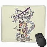 Gaming-Mauspad Little Foxes, Größe 300 x 50 mm, Schreibtisch-Tastaturmatte, großes Mauspad für...
