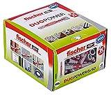 fischer DUOPOWER 6 x 50, Universaldübel, leistungsstarker 2-Komponenten-Dübel, Kunststoffdübel...