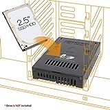 Icy Dock EZConvert MB882SP-1S-2B - 2,5 Zoll (6,4cm) zu 3,5 Zoll (8,9cm) SATA SSD/HDD Konverter -...
