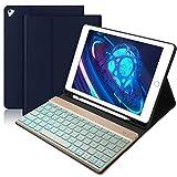 BORIYUAN Tastatur Hülle für iPad 2018 (6 Gen.)- iPad 2017 (5 Gen.) - iPad Air 2/1 - iPad Pro 9.7 -...