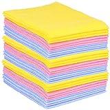 com-four® 30x Haushaltstücher, extrem saugfähige und strapazierbare Allzweck-Wischtücher aus...