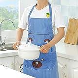 SITIAN Schürze Küche Kochen Ölbeständige Schürze Haushalt Damenmode Niedlich Gebratenes Gemüse...