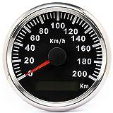 ELING Wasserdichter GPS Tacho Kilometerzähler 200KM/H für Auto Motorrad Buggy mit...