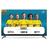 CHiQ U50H7L Rahmenloser UHD Fernseher 50 Zoll TV 4k Randlos Smart TV 126 cm Bilddiagonale [Assembled...