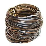 Queenbox 500g(70m) Synthetische Rattan Weben Material, Kaffee Farbverlauf Flache Kunststoff Rattan...