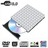 Externes CD DVD Laufwerk USB 3.0,Tragbare CD DVD Brenner Extern Player Spieler Kompatibel für Apple...