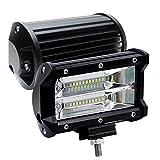 2 X 72W LED Arbeitsscheinwerfer 5 Zoll Zusatzscheinwerfer IP67 wasserdicht Offroad Scheinwerfer für...