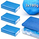 HENMI 3 Pack Reinigungsknete, Professionel Homogene Reinigungsknetmasse, Lackreiniger zur...