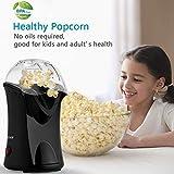 Rendio Popcornmaschine für Zuhause zum selber machen, 1200W Heißluft Popcorn Maker,...