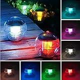 Solarbetriebene Wasserdichte LED-Lampe bunten Schwimm Pfad anzeigen Landschaft Teich Spa...