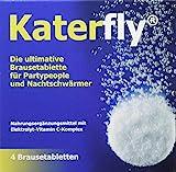 Katerfly Brausetabletten - 4 Stück - Vor dem Kater Frühstück - Elektrolyt-Vitamin C-Komplex -...