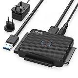 USB IDE oder SATA Adapter, FIDECO USB 3.0 Festplattenadapter Universal für 2.5/3.5 Zoll SATA...