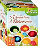 Eierfarben HEITMANN 5 Eierfarben + 5 Färbebecher - 5 flüssige Kaltfarben - für EIN buntes...