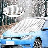Migimi Frontscheibenabdeckung, Windschutzscheibe Abdeckung Winterabdeckung Eisschutz Faltbare Auto...