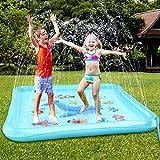 Baztoy Splash Pad, Kinder Spielzeug Wasser Sprinkler Matte Wasserspielmatte Sommer Wasserspielzeug...
