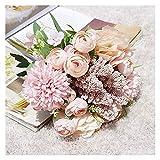 Hjdmcwd Künstliche Blumen 1 Bundle Hochzeit Kombination Bouquet Braut Brautjungfer Blumen halten...