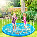 Nasharia Splash Pad, Sprinkler Wasser-Spielmatte, Sommer Garten Wasserspielzeug Kinder Baby Pool Pad...