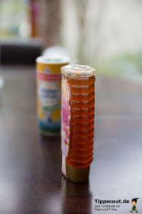 Honig und salz für die Single-Einkaufsliste für die Küche