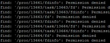 Linux Fehler bei find